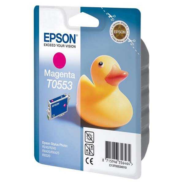 originální Epson T0553 magenta cartridge purpurová originální nkoustová náplň pro tiskárnu Epson Stylus Photo RX425