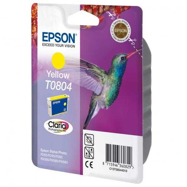originální Epson T0804 yellow cartridge žlutá originální inkoustová náplň pro tiskárnu Epson Stylus Photo PX650
