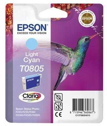 originální Epson T0805 cyan foto cartridge světle modrá azurová originální inkoustová náplň pro tiskárnu Epson Stylus Photo PX660