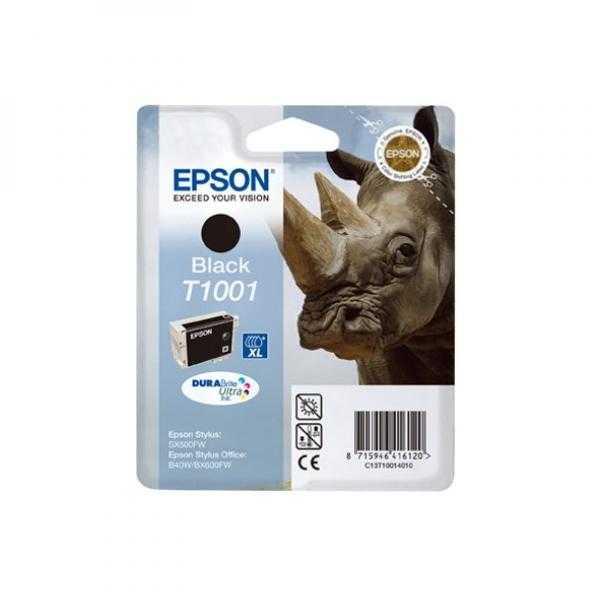 originální Epson T1001 black cartridge černá originální inkoustová náplň pro tiskárnu Epson Stylus Office BX310FN