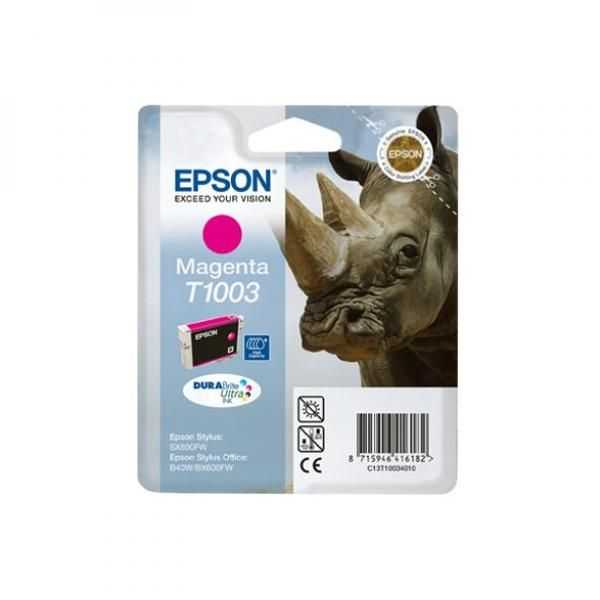 originální Epson T1003 magenta cartridge purpurová červená originální inkoustová náplň pro tiskárnu Epson Stylus Office BX310FN