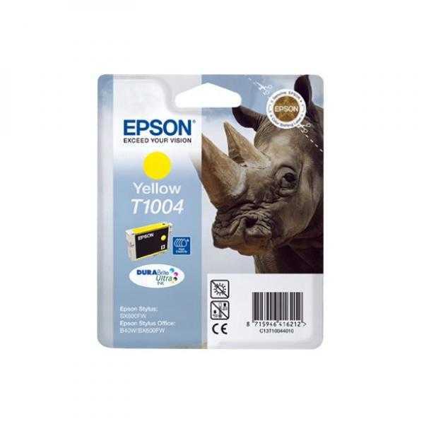 originální Epson T1004 yellow cartridge žlutá originální inkoustová náplň pro tiskárnu Epson Stylus Office B40W