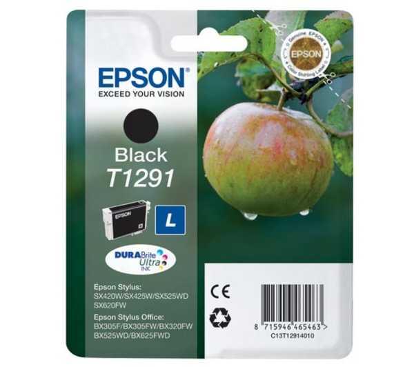 originální Epson T1291 black cartridge černá originální inkoustová náplň pro tiskárnu Epson Stylus SX435W