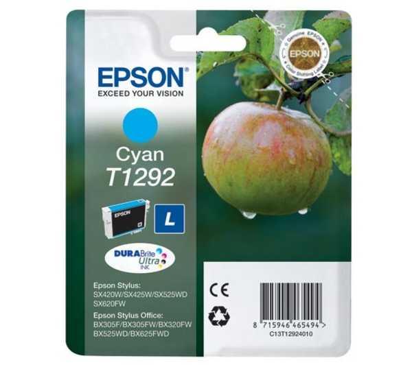 originální Epson T1292 cyan cartridge modrá azurová originální inkoustová náplň pro tiskárnu Epson Stylus SX435W