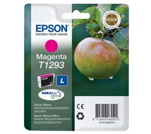 originální Epson T1293 magenta cartridge purpurová originální inkoustová náplň pro tiskárnu Epson Stylus Office B42WD