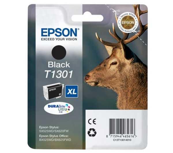 originální Epson T1301 black cartridge černá originální inkoustová náplň pro tiskárnu Epson Stylus SX535WD