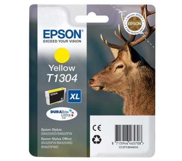 originální Epson T1304 yellow cartridge žlutá originální inkoustová náplň pro tiskárnu Epson Stylus Office B42WD