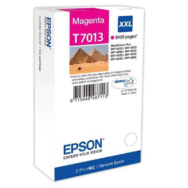 originální Epson T701340 magenta purpurová inkoustová originální cartridge pro tiskárnu Epson WorkForce Pro WP-4015 DN