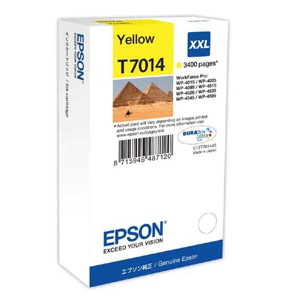 originální Epson T701440 yellow žlutá inkoustová originální cartridge pro tiskárnu Epson WorkForce Pro WP-4015 DN