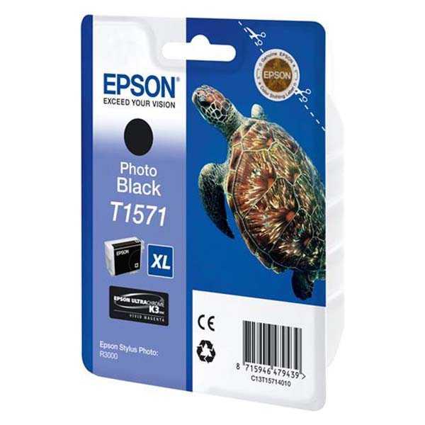 originální Epson T1571 black cartridge černá originální inkoustová náplň pro tiskárnu Epson Stylus Photo R3000