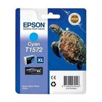 originální Epson T1572 cyan cartridge modrá azurová originální inkoustová náplň pro tiskárnu Epson Stylus Photo R3000