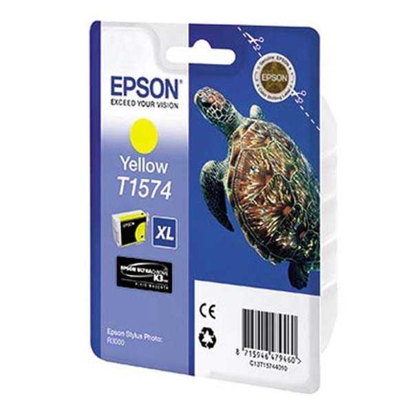originální Epson T1574 yellow cartridge žlutá originální inkoustová náplň pro tiskárnu Epson Stylus Photo R3000