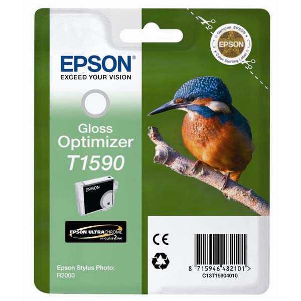 originální Epson T1590 gloss optimizer optimalizátor lesku lesklá originální inkoustová náplň pro tiskárnu Epson Stylus Photo R2000