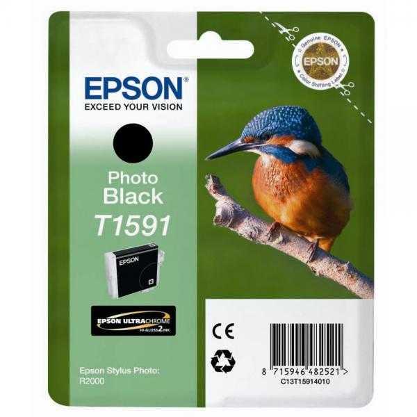 originální Epson T1591 photo black černá foto originální inkoustová cartridge náplň pro tiskárnu Epson Stylus Photo R2000