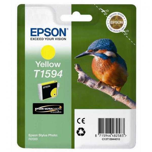 originální Epson T1594 yellow žlutá purpurová originální inkoustová cartridge náplň pro tiskárnu Epson Stylus Photo R2000