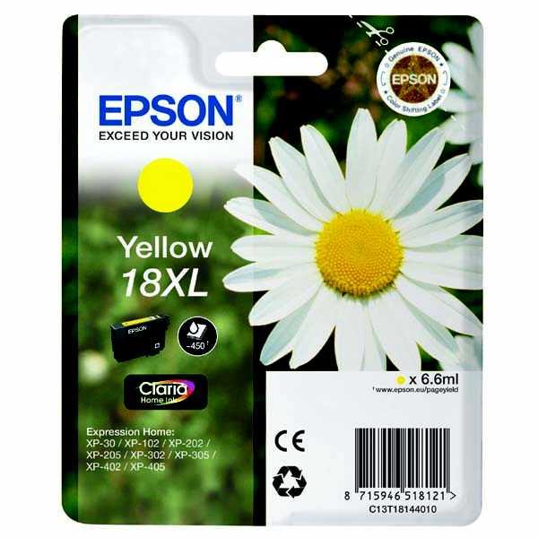 originální Epson T1814XL yellow žlutá cartridge originální inkoustová náplň pro tiskárnu Epson Expression Home XP-302