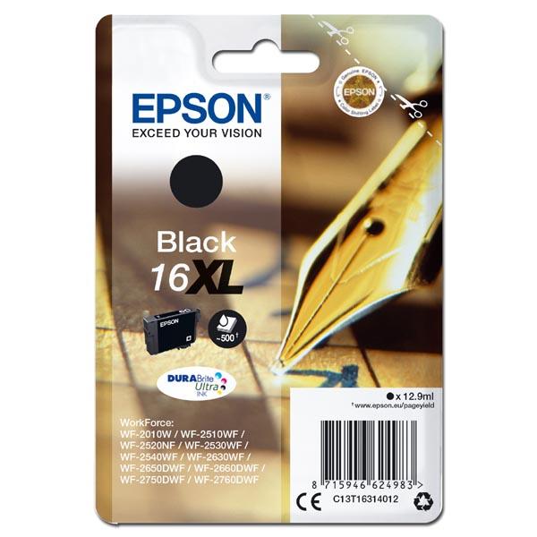 originální Epson T1631XL black cartridge černá originální inkoustová náplň pro tiskárnu Epson WorkForce WF-2520NF
