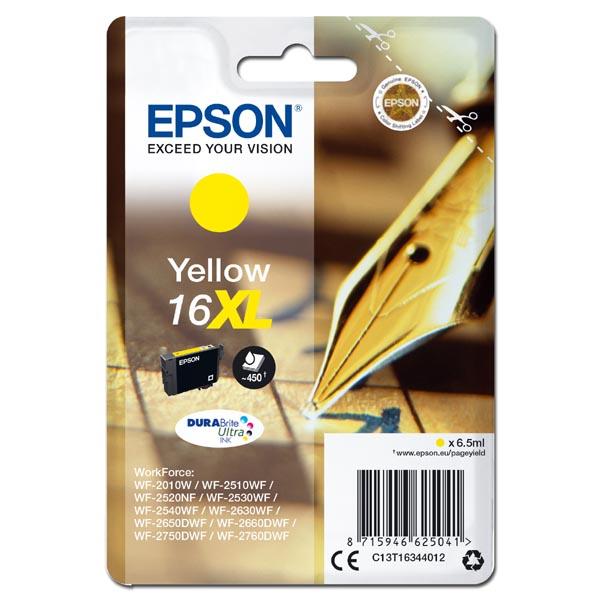 originální Epson T1634XL yellow žlutá cartridge originální inkoustová náplň pro tiskárnu Epson WorkForce WF-2540WF