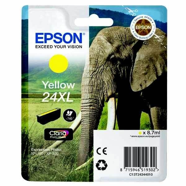 originální Epson T2434 yellow cartridge žlutá originální inkoustová náplň do tiskárny Epson Expression Photo XP-850