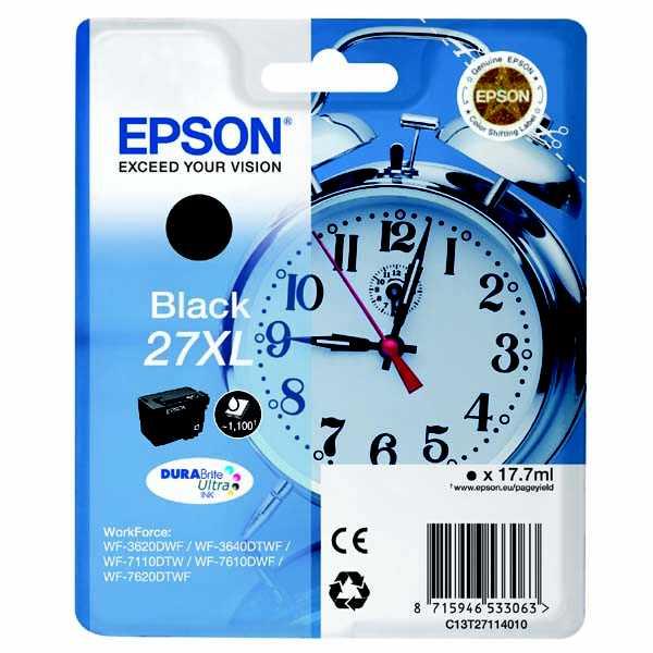 originální Epson T2711 black cartridge černá originální inkoustová náplň pro tiskárnu Epson WorkForce WF-3620 DNF