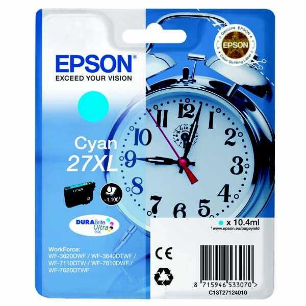 originální Epson T2712 cyan cartridge modrá originální inkoustová náplň pro tiskárnu Epson WorkForce WF-3620 DNF