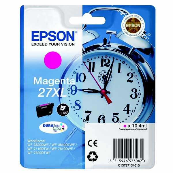 originální Epson T2713 magenta cartridge červená originální inkoustová náplň pro tiskárnu Epson WorkForce WF-3620 DNF