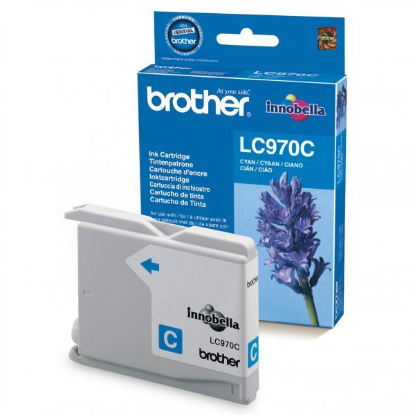 originální Brother LC970c/LC1000c cyan cartridge modrá azurová originální inkoustová náplň pro tiskárnu Brother DCP-130C
