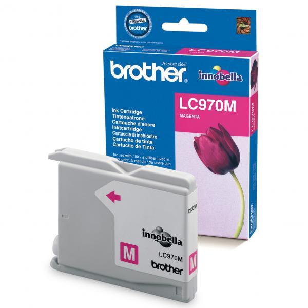 originální Brother LC970m/LC1000m magenta cartridge purpurová červená originální inkoustová náplň pro tiskárnu Brother DCP-330C