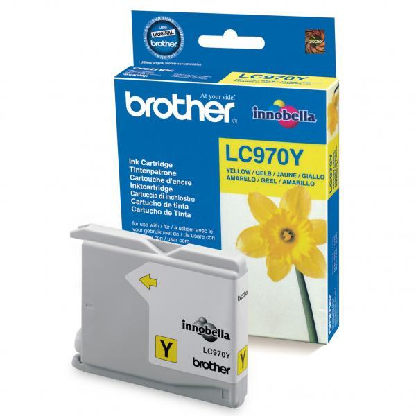originální Brother LC970y/LC1000y yellow cartridge žlutá originální inkoustová náplň pro tiskárnu Brother MFC-260C