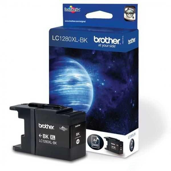 originální Brother LC-1280XLBK black černá originální inkoustová cartridge pro tiskárnu Brother MFC-J6510DW