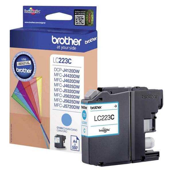 originální Brother LC-223 C cyan cartridge modrá azurová originální inkoustová náplň pro tiskárnu Brother MFC-J4625DW