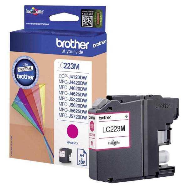 originální Brother LC-223 M magenta cartridge červená purpurová originální inkoustová náplň pro tiskárnu Brother MFC-J4625DW