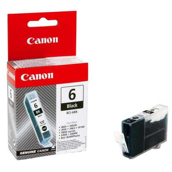 originální Canon BCI-6bk black foto cartridge černá originální inkoustová náplň pro tiskárnu Canon PIXMA iP6000D