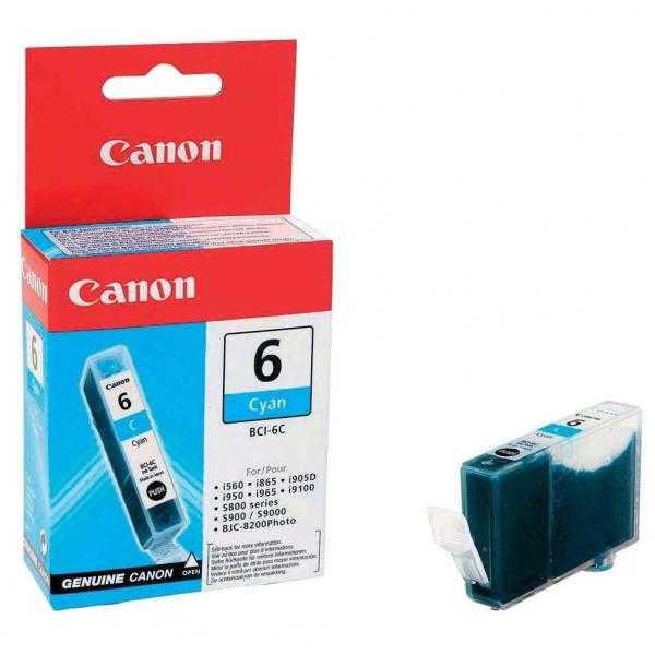 originální Canon BCI-6C cyan cartridge modrá azurová originální inkoustová náplň pro tiskárnu Canon PIXMA iP6000D