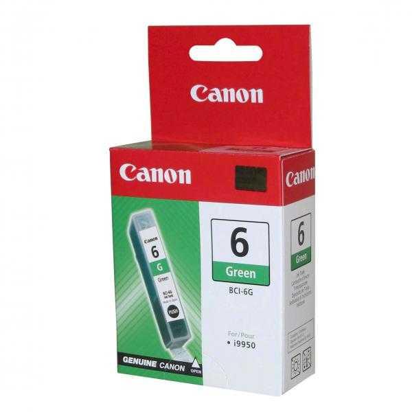 originální Canon BCI-6G green zelená cartridge originální inkoustová náplň pro tiskárnu Canon i9950