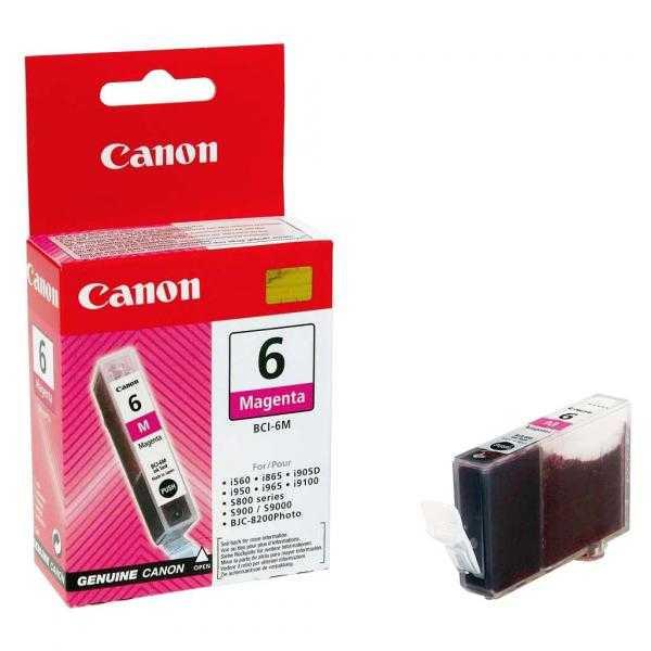 originální Canon BCI-6M magenta cartridge purpurová červená originální inkoustová náplň pro tiskárnu Canon PIXMA iP6000D