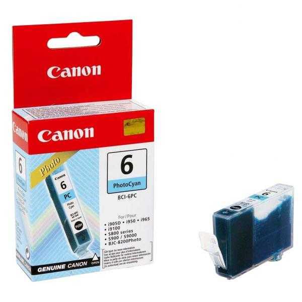 originální Canon BCI-6pc photo cyan modrá foto cartridge originální inkoustová náplň pro tiskárnu Canon PIXMA iP6000D