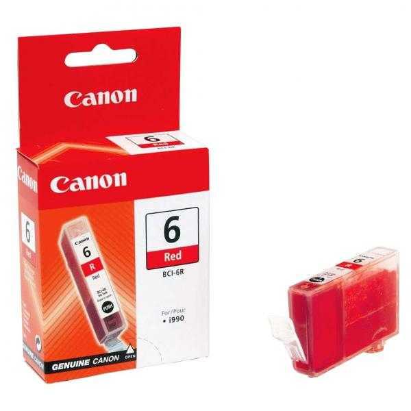originální Canon BCI-6R red magenta červená cartridge originální inkoustová náplň pro tiskárnu Canon i9950