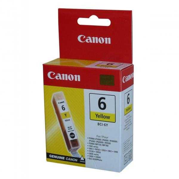 originální Canon BCI-6Y yellow cartridge žlutá originální inkoustová náplň pro tiskárnu Canon PIXMA iP6000D