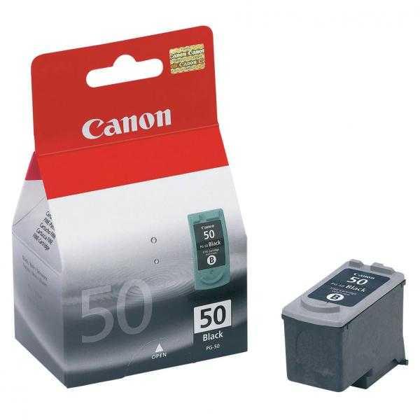 originální Canon PG-50 black černá originální cartridge inkoustová náplň pro tiskárnu Canon FAX-JX500