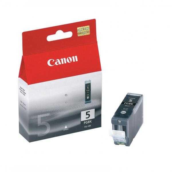 originální Canon PGI-5Bk black cartridge černá s čipem originální inkoustová náplň pro tiskárnu Canon PIXMA MP530