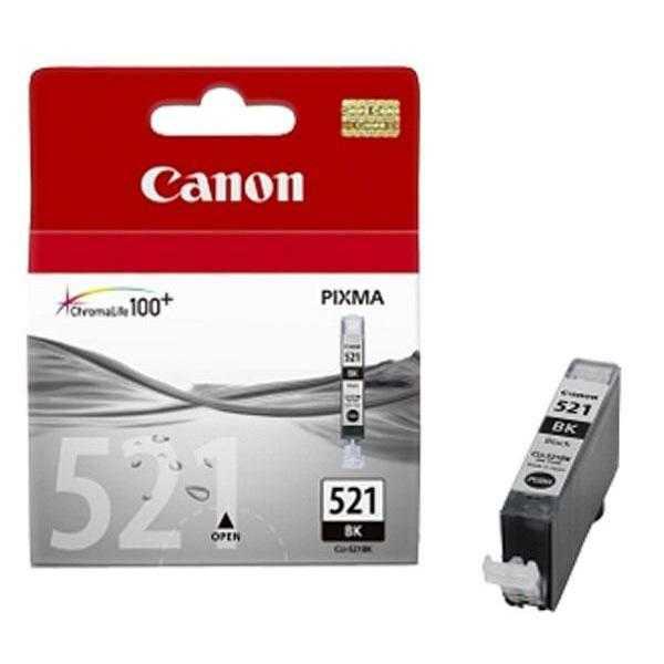 originální Canon CLI-521bk black cartridge černá foto originální inkoustová náplň pro tiskárnu Canon PIXMA MP980