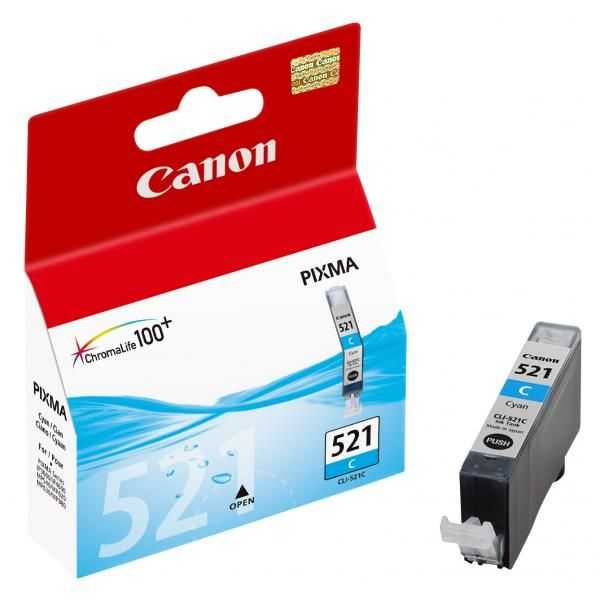 originální Canon CLI-521c cyan cartridge modrá originální inkoustová náplň pro tiskárnu Canon PIXMA iP3600