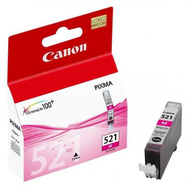 originální Canon CLI-521m magenta cartridge purpurová originální inkoustová náplň pro tiskárnu Canon PIXMA MP980