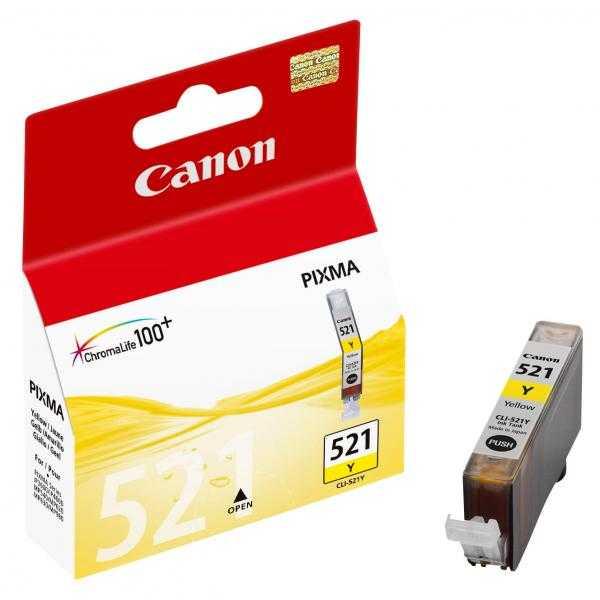 originální Canon CLI-521y yellow cartridge žlutá originální inkoustová náplň pro tiskárnu Canon PIXMA MP540