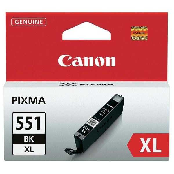originální Canon CLI-551bk XL black cartridge černá foto originální inkoustová náplň pro tiskárnu Canon Pixma MG5450
