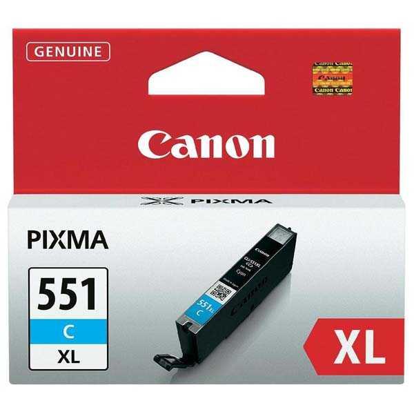 originální Canon CLI-551c XL cyan cartridge modrá azurová originální inkoustová náplň pro tiskárnu Canon PIXMA iP7250