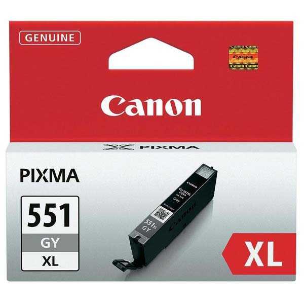 originální Canon CLI-551gy XL grey cartridge šedá originální inkoustová náplň pro tiskárnu Canon Pixma MG5450