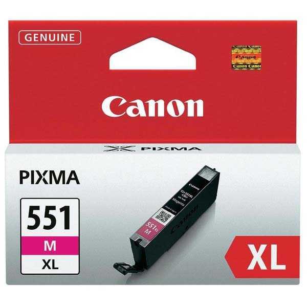 originální Canon CLI-551m XL magenta cartridge originální kompatibilní inkoustová náplň pro tiskárnu Canon Pixma MG5450