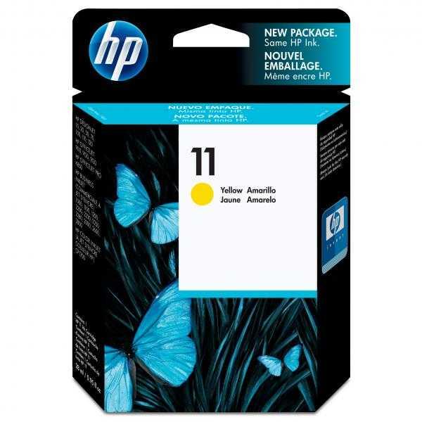 originální HP11 (C4838A) yellow cartridge originální žlutá inkoustová náplň pro tiskárnu HP Business InkJet 1200d